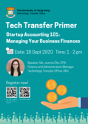Tech Transfer Primer - Startup Accounting 101: Managing Your Business Finances