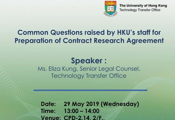 Common Questions raised by HKU's staff for Preparation of Contract Research Agreement