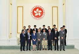 Hong Kong Government Officials celebrate winners in renowned regional and international competitions on innovation and technology, including the HKU Teams