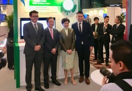 Left to right: Dr. Miles Wen, Co-Founder and CEO, Fano Labs; Prof. Victor OK Li, Co-Founder and Chaiman of the Board, Fano Labs; Mrs. Carrie Lam, Chief Executive, HKSAR; Dr. Albert Lam, Chief Scientist, Fano Labs.
