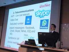 Dr. Chan suggested us to make good use of the free telecommunication network.